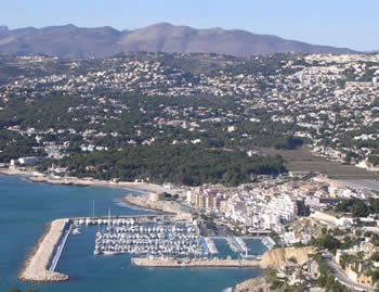 Moraira villa holidays. Moraira's picturesque coastline, Costa Blanca, Spain