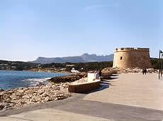 Moraira's tower is a great place to pose for photographs